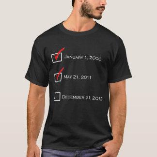 Camiseta Lista de verificação do dia do julgamento final -