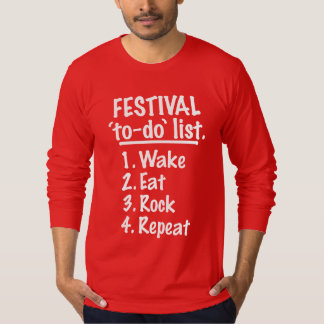 Camiseta Lista do tumulto do ` do festival' (branca)