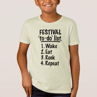 Camiseta Lista do tumulto do ` do festival' (preto)