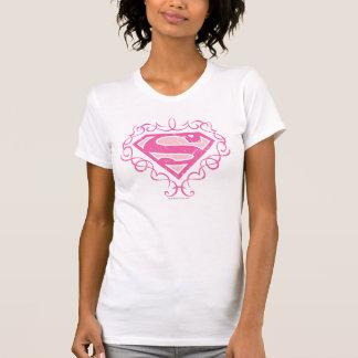 Camiseta Listras cor-de-rosa de Supergirl