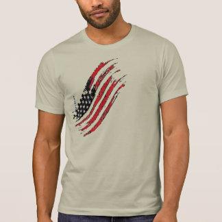 Camiseta listras da estrela da bandeira dos E.U. do