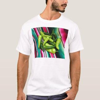 Camiseta Listras e o Chile coloridos de Serape