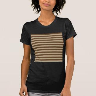 Camiseta Listras largas horizontais - Khaki e Brown escuro