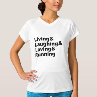 Camiseta Living&Laughing&Loving&RUNNING (preto)