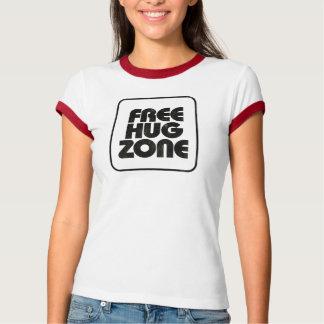 Camiseta Livre a zona do abraço - tipo t-shirt do vintage