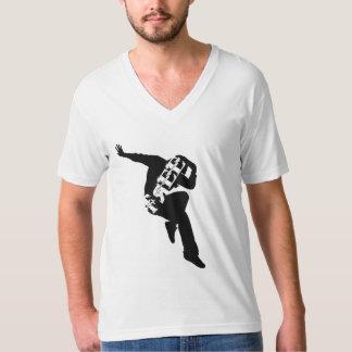 Camiseta Livre para dançar o jérsei americano V da multa do