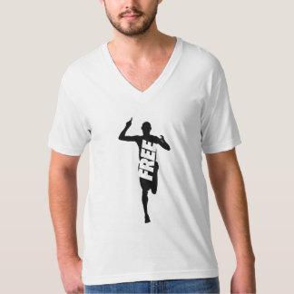 Camiseta Livre para funcionar o jérsei americano V da multa
