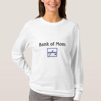 Camiseta livro de cheques, banco da mamã