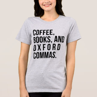 Camiseta Livros do café do t-shirt de Tumblr e vírgulas de