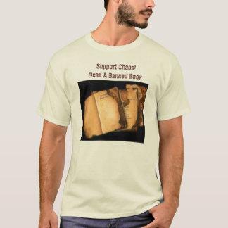 Camiseta Livros queimados, caos do apoio! Leia um livro