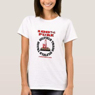 Camiseta Lixo puro do campo petrolífero de 100%, t-shirt da
