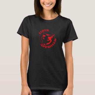 Camiseta Lloyd aprovou - o TShirt das mulheres (o preto)