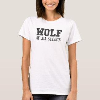 Camiseta Lobo agradável de todo o impressão das ruas