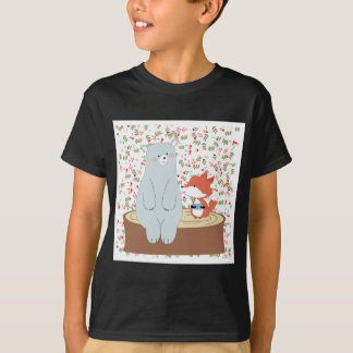 Camiseta Lobo bonito da raposa do verão do primavera do