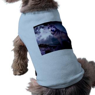 Camiseta Lobo da lua - lobo cinzento - lobo selvagem - lobo