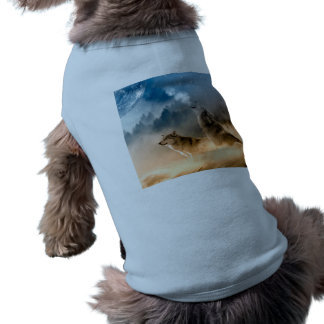 Camiseta Lobo de Howlin - arte do lobo - lobo da lua - lobo