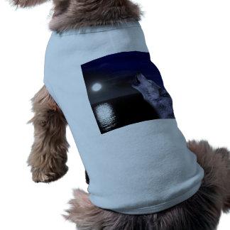 Camiseta Lobo de mar - lobo da lua - Lua cheia - lobo