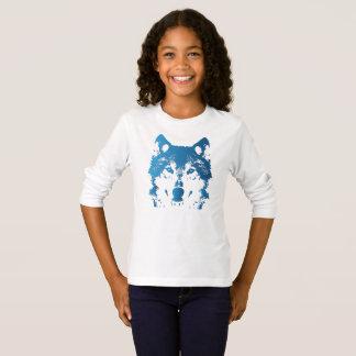 Camiseta Lobo do azul de gelo da ilustração