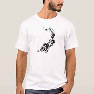 Camiseta Lobo impetuoso tribal Pouncing.png