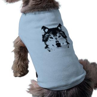 Camiseta Lobo preto da ilustração