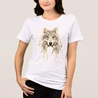 Camiseta Lobo roupa nativo no T apto relaxado do jérsei