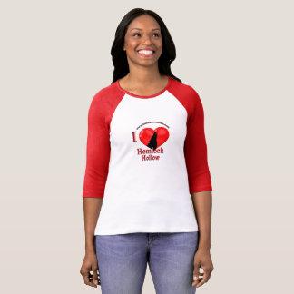 Camiseta Lobos da luva do t-shirt 3/4 da cavidade da cicuta