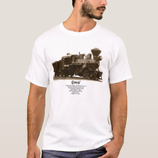 Camiseta Locomotiva de vapor do climax