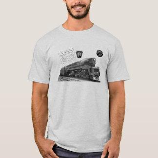 Camiseta Locomotiva de vapor do T-1 da estrada de ferro de