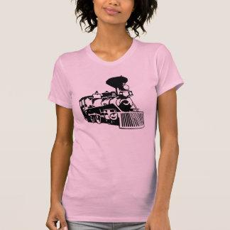 Camiseta locomotiva do trem do vapor