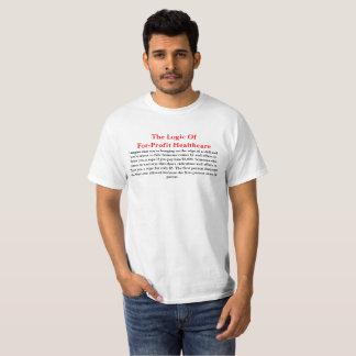 Camiseta Lógica para de cuidados médicos do lucro