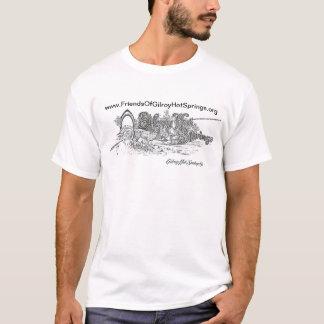Camiseta LogoT-Camisa dos 1900s de Gilroy Hot Springs