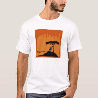 Camiseta Logotipo 2009 do quadrado da maratona de Maasai