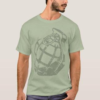 Camiseta Logotipo afligido da granada