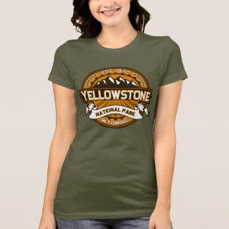 Camiseta Logotipo amarelo dourado do parque nacional de