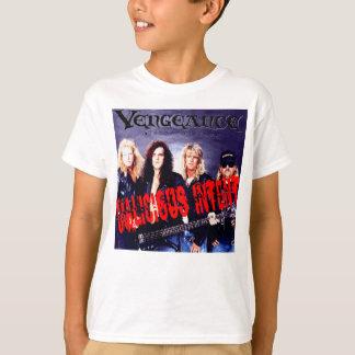 Camiseta Logotipo atento malicioso incorporado vingança