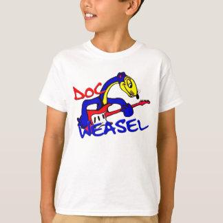 Camiseta Logotipo azul da doninhas de DWB