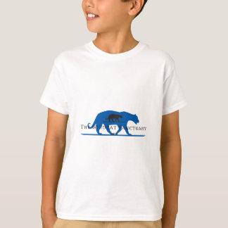Camiseta Logotipo azul da silhueta