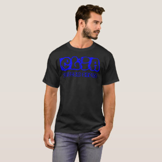 Camiseta Logotipo azul do graphiti