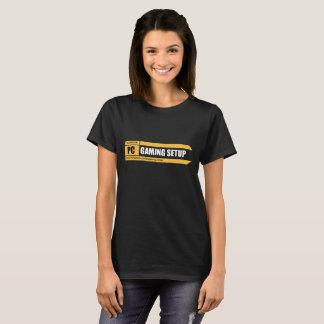 Camiseta Logotipo básico da página do t-shirt   da mulher