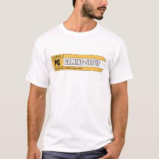 Camiseta Logotipo básico da página do t-shirt   do homem