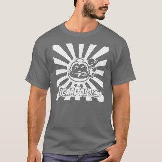 Camiseta Logotipo branco afligido do Dojo na obscuridade