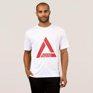Camiseta Logotipo branco/vermelho do T dos homens básicos