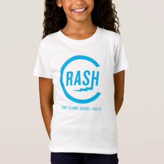 Camiseta Logotipo ciano do T das meninas do impacto