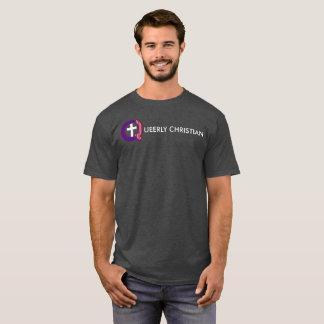 Camiseta Logotipo completo estranhamente cristão (escuro)