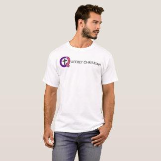 Camiseta Logotipo completo estranhamente cristão (luz)