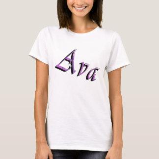 Camiseta Logotipo conhecido roxo cor-de-rosa de Ava,
