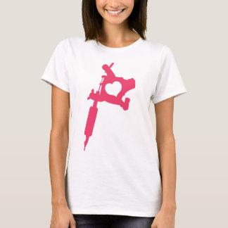 Camiseta logotipo cor-de-rosa