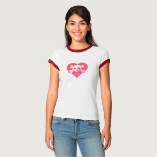 Camiseta Logotipo Coração-Dado forma | T-Shirtg do jogo de