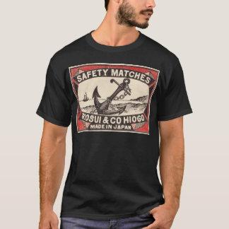 Camiseta Logotipo da caixa de fósforos da âncora do vintage