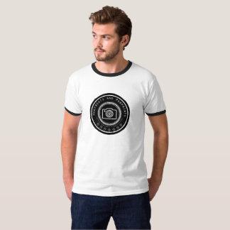 Camiseta Logotipo da câmera de Pawprint dos homens